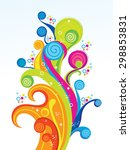 abstract colorful artistic... | Shutterstock .eps vector #298853831