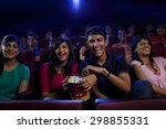 people watching a movie | Shutterstock . vector #298855331