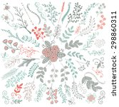 vector colorful hand sketched... | Shutterstock .eps vector #298860311