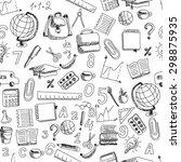 school hand drawn doodle... | Shutterstock . vector #298875935