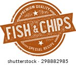 authentic fish and chips... | Shutterstock .eps vector #298882985