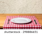plate  wooden  wood. | Shutterstock . vector #298886651