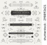 set of vintage decorations... | Shutterstock .eps vector #298892621
