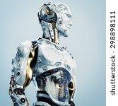 Cool Robot Upper Body In Side...
