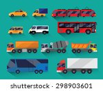 set of urban public and freight ... | Shutterstock .eps vector #298903601