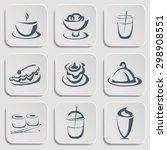restaurant menu silhouettes.... | Shutterstock .eps vector #298908551