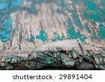damage green board  shallow depth of field - stock photo