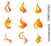 fire flames. collage. | Shutterstock .eps vector #298914965