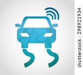 gps technology design  vector... | Shutterstock .eps vector #298921934