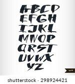 expressive calligraphic script...   Shutterstock .eps vector #298924421