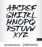expressive calligraphic script... | Shutterstock .eps vector #298924424