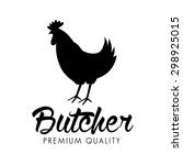 seal butcher design  vector... | Shutterstock .eps vector #298925015