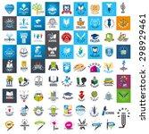 large set of vector logos... | Shutterstock .eps vector #298929461