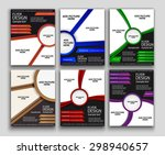 set of flyer template or... | Shutterstock .eps vector #298940657