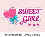 Sweet Girl Illustration  Cute...