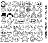 vector set of different cute... | Shutterstock .eps vector #298950131