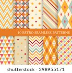 10 retro different soft... | Shutterstock .eps vector #298955171