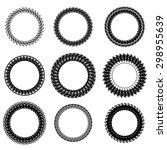 vector set of decorative circle ... | Shutterstock .eps vector #298955639