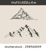 mountain scenery sketch hand... | Shutterstock .eps vector #298960049