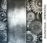 metallic gears background | Shutterstock . vector #298964561