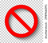 blank sign ban vector... | Shutterstock .eps vector #298966091