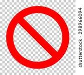 blank sign ban vector... | Shutterstock .eps vector #298966094