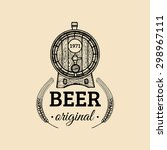kraft beer barrel logo. old... | Shutterstock .eps vector #298967111