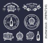 old brewery logos set. kraft... | Shutterstock .eps vector #298967141