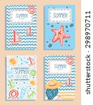 set of colorful vector summer... | Shutterstock .eps vector #298970711