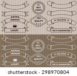 set of retro ribbons and labels.... | Shutterstock .eps vector #298970804