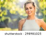 perfect teeth young woman...   Shutterstock . vector #298981025