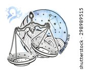 libra zodiac sign .horoscope... | Shutterstock .eps vector #298989515