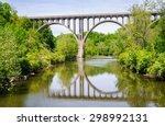 long bridge at cuyahoga valley... | Shutterstock . vector #298992131