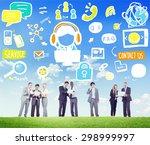 customer service help business... | Shutterstock . vector #298999997