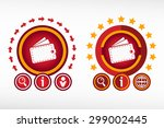 wallet icon on creative... | Shutterstock .eps vector #299002445