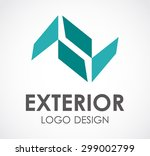exterior real estate abstract...   Shutterstock .eps vector #299002799