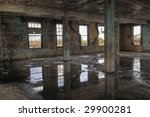 Columns In Abandoned Room