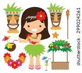 hawaii vector illustration | Shutterstock .eps vector #299024261