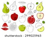 food hand drawn vector elements.... | Shutterstock .eps vector #299025965