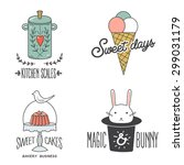 vintage retro bakery badges and ... | Shutterstock .eps vector #299031179