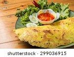 crispy vietnamese omelet | Shutterstock . vector #299036915