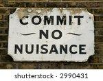 Old Neighbourhood Street Sign   ...