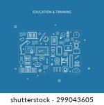 flat design modern vector... | Shutterstock .eps vector #299043605