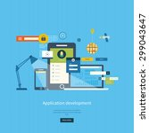 modern flat design application... | Shutterstock .eps vector #299043647