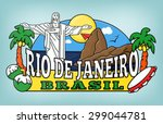 rio colorful background vector... | Shutterstock .eps vector #299044781