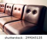 brown leather sofa  vintage... | Shutterstock . vector #299045135