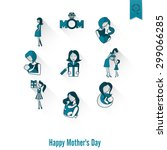 Happy Mothers Day Simple Flat...