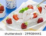 frozen yogurt with fresh... | Shutterstock . vector #299084441