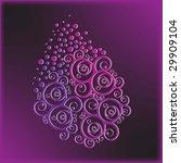 floral violet application | Shutterstock .eps vector #29909104