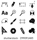 graphic design icons set | Shutterstock .eps vector #299091485